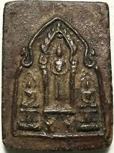 Phra Trekay Lp Boon Rare Old Thai Buddha Amulet Pendant Magic Ancient Idol 28