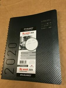At a glance 2020 Weekly Two Page Week Planner Calendar New Year 70 950x 45 Black