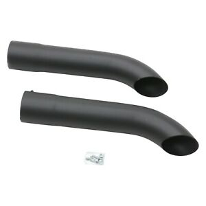 Exhaust Side Pipes Steel Hi temp Black Coating Turnout Exhaust Side Pipes 3 5