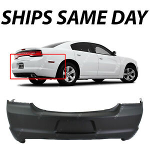 New Primered Rear Bumper Cover Replacement For 2011 2014 Dodge Charger 11 14