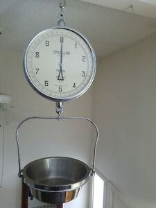Chatillon Type 4700 Hanging Food Produce Grocery Scale Double Sided 20lb Cap