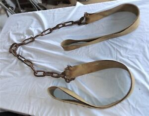 Vtg 2 Man Drag Chain With Straps Logging Farming Forestry Rigging Hunting