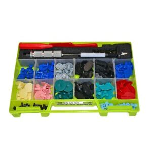 194 Pcs Paintless Dent Repair Puller Tab Set With Slide Hammer