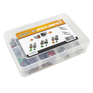52pc Deutsch Dt Connector Kit 2 3 4 Pin Sealed Gray Connector Awg 20 14