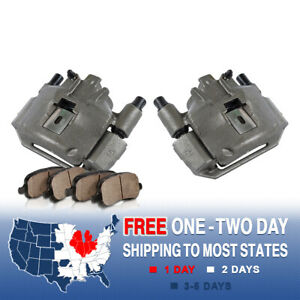 For 1994 1998 Ford Mustang Base Gt V6 V8 Front Brake Calipers And Ceramic Pads