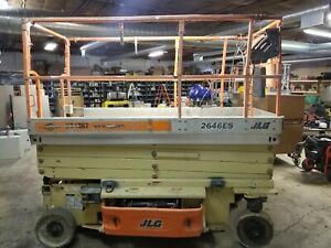 2007 Jlg 2646es Electric Scissor Lift Aerial Lift 46 Deck 26 High