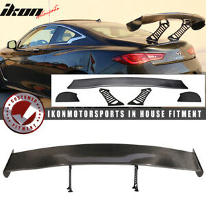 56 In V3 Universal Adjustable Downforce Gt Trunk Spoiler Wing Carbon Fiber Cf