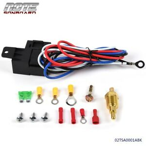 Us Radiator Engine Electric Fan Thermostat Temperature Switch Relay Wiring Kit