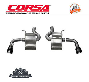 Corsa Performance 14785blk Xtreme Axle back Exhaust System Fits 16 19 Camaro