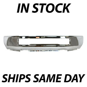 New Chrome Front Bumper Face Bar For 2017 2018 2019 Ford F 250 F 350 F 450 F 550
