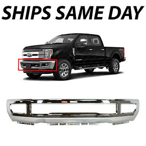 New Chrome Front Bumper Face Bar For 2017 2019 Ford F250 F350 Super Duty W Fog