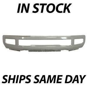 New Primered Front Bumper Face For 2017 2019 Ford F250 F350 Super Duty W Fog