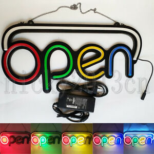 Open Sign Led Neon Light Auto Flashing Hanging Bussiness Shop Window Display
