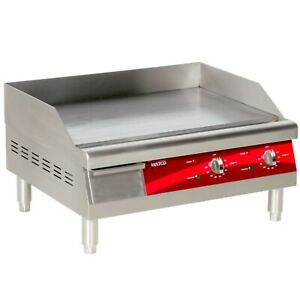 24 Avantco Electric Stainless Steel Commercial Countertop Flat Top Griddle 240v