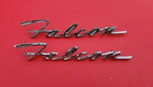 Nos Single 1962 Ford Falcon Nameplate Fender Emblem C2db 16098 A Out Of Box