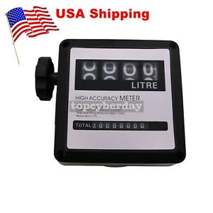 New 4 digital Gasoline Petrol Oil Flow Meter Counter 20 120l min For Diesel us