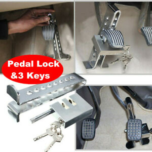 Steel Brake Pedal Lock Security Car Auto Stainless Steel Clutch Lock Anti theft