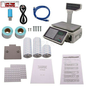 30kg Barcode Printing Scale For Self Adhesive Label App Control Printing Report