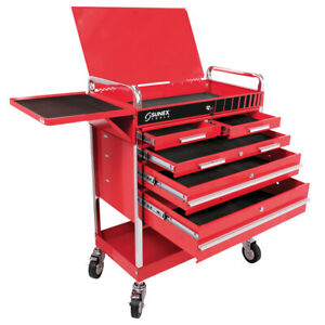 Sunex Tools Professional 5 Drawer Service Cart W Locking Top red 8045 New