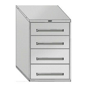 Equipto 4418 gn Mod Drawer Cabinet W o Dividers 30 gn