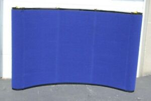 Skyline Mirage Pop up Trade Show Display Blue Lights Shipping Container