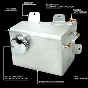 For 78 88 Chevy Monte Carlo Aluminum Expansion Recovery Overflow Coolant Tank