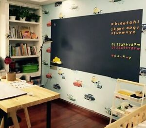 Magnetic Chalkboard Wall Sticker Roll With Self adhesive Back Wallpaper 94 x48