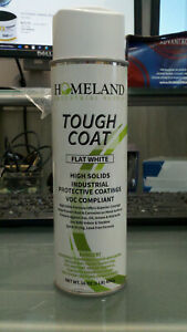 Industrial Tough Coat Spray Paint Flat White