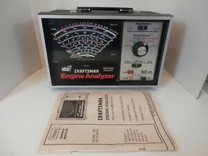 Craftsman Engine Analyzer For 12 24 Volts W Manual Vgc Free Shipping