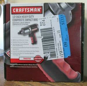New Craftsman 1 2 Heavy Duty Composite Impact Wrench 9 19984 4394
