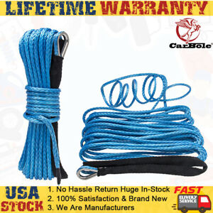 1 4 X 50 Synthetic Winch Rope Car Recovery Cable For Winches Suv Atv Utv Cars