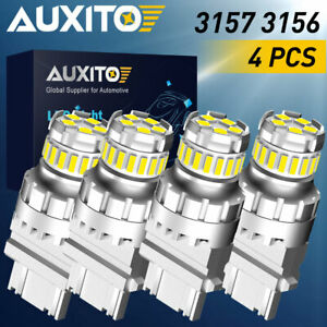 4x Auxito 3157 3156 Led 6000k Backup Reverse Light Bulbs Super Bright Canbus 92w