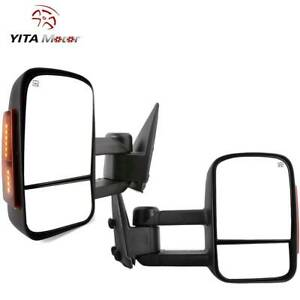 Yitamotor Tow Mirrors Power Heated For 03 06 Chevy Silverado 1500 2500 3500