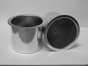 Medium Natural Aluminum Cup Holders For Your Hot Rod street Rod Or Muscle Car