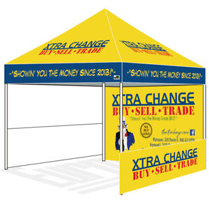 Commercial Pop Up Canopy 10x10 Custom Logo Printed Trade Show Booth Party Tent