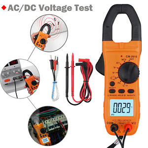 6000 Counts Digital Clamp Meter Auto Range Dc ac Voltage Ncv Tester W backlight