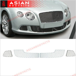 Chrome Front Bumper Lower Mesh Grille For Bentley Continental Gt Gtc 2011