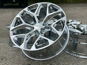 22 Chrome Snowflake Ck156 Wheels Rims Gmc Sierra Yukon Denali 2019 2018 2017 New