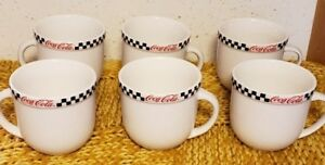 Coca Cola Gibson Coffee Cups Set of 6