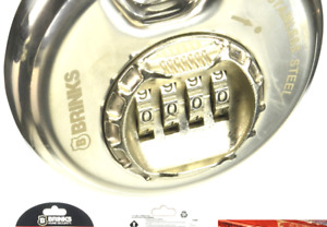 Brinks 173 80051 80mm Stainless Steel Resettable Combination Discus Padlock