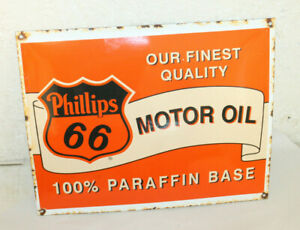 Phillips 66 Oil Vintage Style Porcelain Signs Gas Pump Man Cave Station Paraffin