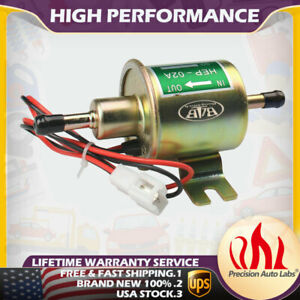 Universal Low Pressure Electric Fuel Pump Gas Diesel Inline For 12v 4 7psi Cars