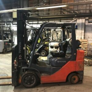 2014 Toyota 6000lbs Used Forklift Triple Mast Sideshift Lp Gas 5510 Hours