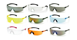 Pyramex Provoq Safety Glasses Scratch Resistant Anti Fog Pick Lens Color