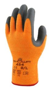 Showa Atlas 454 Therma Fit Insulated Gloves Hi Vis Size S M L Xl Xxl