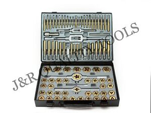 86 Pc Piece Tungsten Steel Mm Sae Size Inch Steel Tap And Die Tool Set Kit