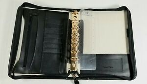 1997 Franklin Covey Leather 1 Inch Planner Binder 7 Gold Rings Cl17900 Vintage