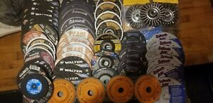 90 Piece Wholesale Lot Industrial Cut Off Disks Angle Ginding Walter Enduro Flex