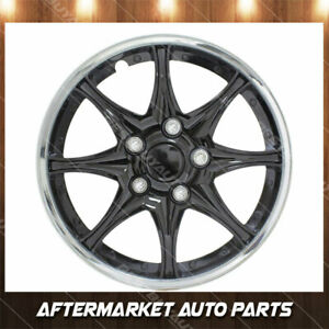 14 Black And Chrome Abs P Wheel Covers