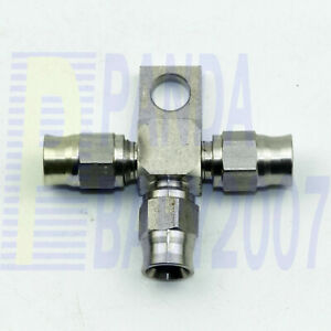 T Tee 3 Way Female An3 3an Brake Line Fitting Adapter Splitter Locating Lug Sus